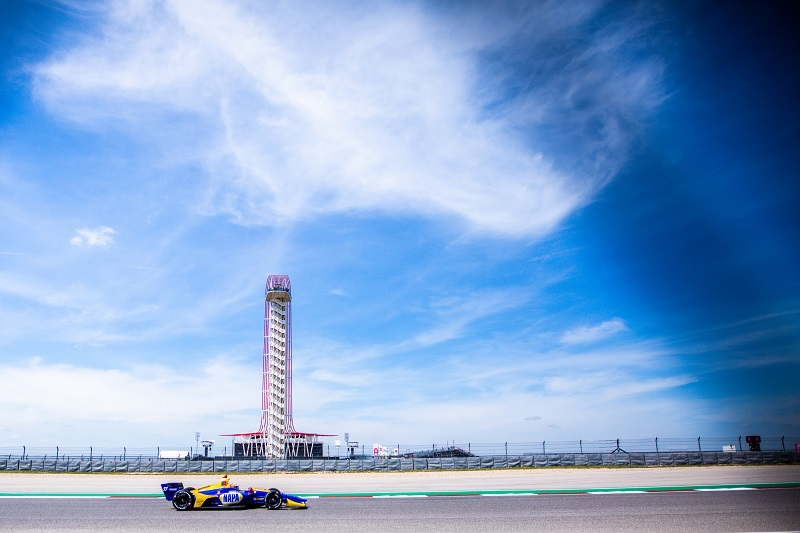 | Driver: Alexander Rossi| Team: Andretti Autosport| Number: 27| Car: Dallara DW12 UAK18| Keyword: Honda|Keyword: NAPA Auto Parts|| Photographer: Andy Clary| Event: IndyCar Classic| Circuit: Circuit of the Americas| Location: Austin, Texas| Series: NTT IndyCar Series| Season: 2019| Country: US| Keyword: motor racing| Keyword: motorsport|Keyword: TX|Keyword: USA|Keyword: COTA|Keyword: open wheel|Keyword: single seater|Keyword: road course|Keyword: inaugural| Session: P2|Keyword: practice|Keyword: practice 2|