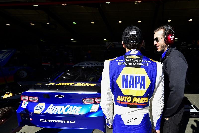 #9: Chase Elliott, Hendrick Motorsports, Chevrolet Camaro NAPA AUTO PARTS, Alan Gustafson