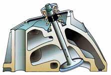 Deflector valve stem seal.
