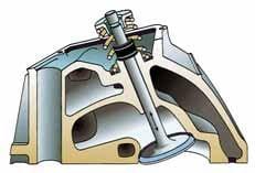 Positive valve stem seal.