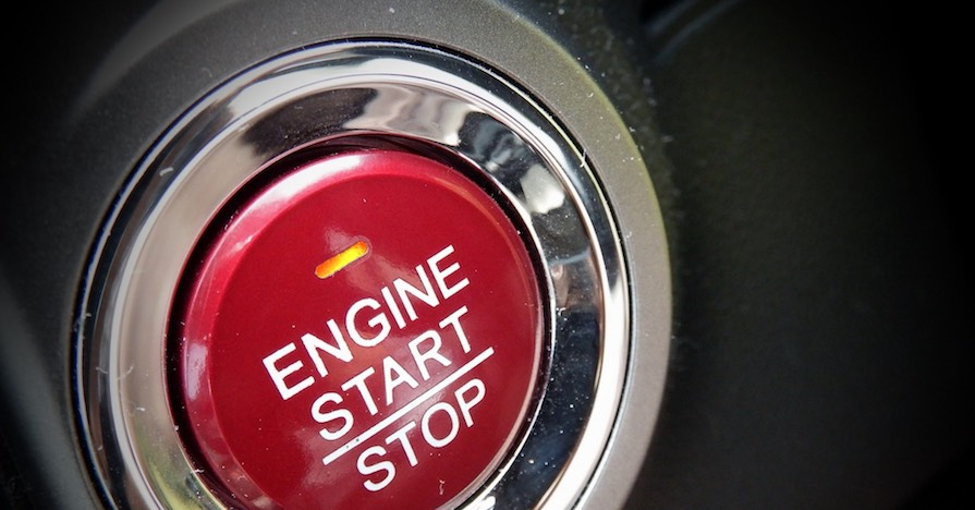 Start engine button on a car. An engine needs oxygen and fuel to run. A faulty fuel filter can stop your engine from getting enough gasoline and could possibly stop it from starting.