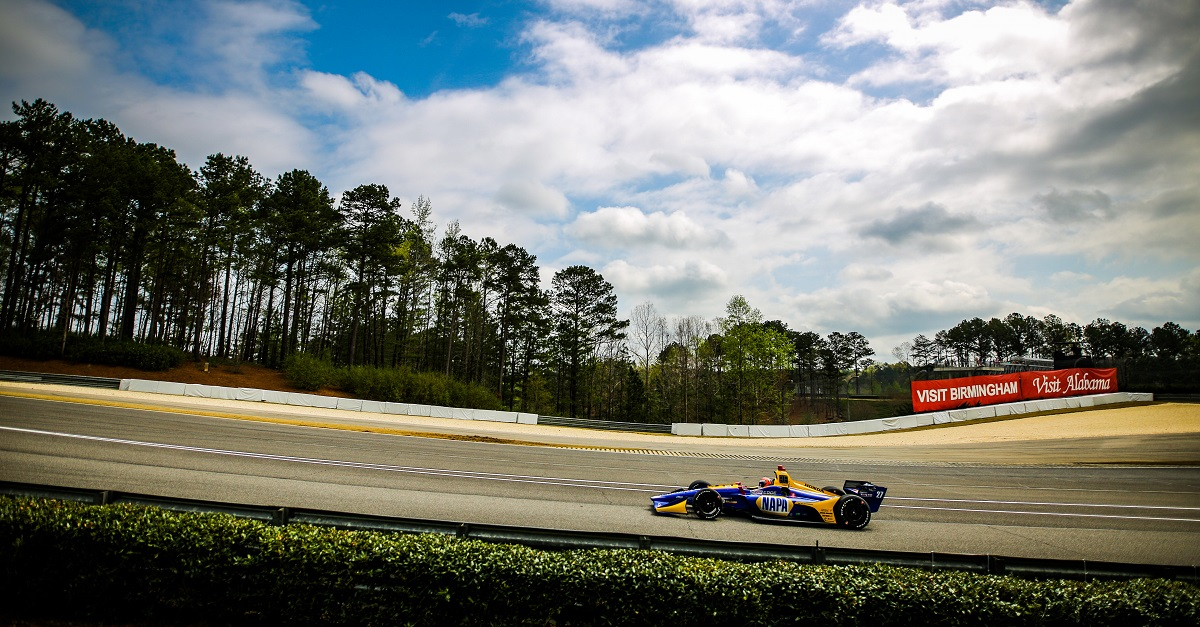 | Driver: Alexander Rossi| Team: Andretti Autosport| Number: 27| Car: Dallara DW12 UAK18| Keyword: Honda|Keyword: NAPA Auto Parts|| Photographer: Andy Clary| Event: Honda Indy Grand Prix of Alabama| Circuit: Barber Motorsports Park| Location: Birmingham, Alabama| Series: NTT IndyCar Series| Season: 2019| Country: US| Keyword: motor racing| Keyword: motorsport|Keyword: AL|Keyword: USA|Keyword: Bama|Keyword: open wheel|Keyword: single seater|Keyword: road course|| Session: P3|Keyword: practice|Keyword: practice 3|