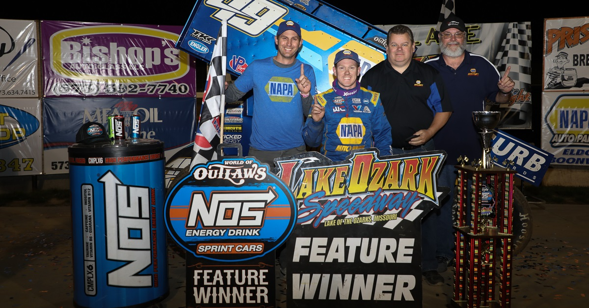 Brad-Sweet-49-NAPA-AUTO-PARTS-sprint-car-feature-winner-Lake-Ozark