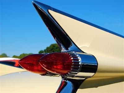 Yellow 1959 Cadillac