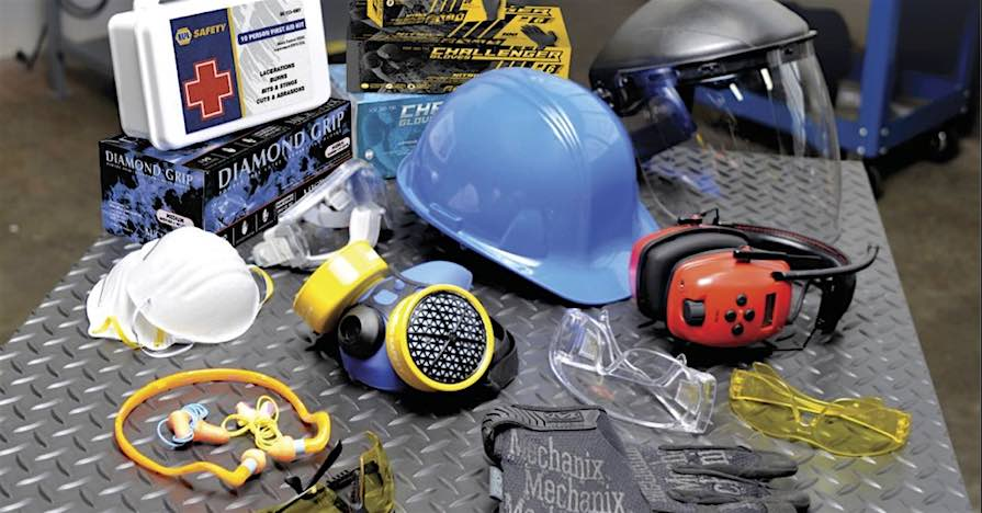 Tools and protective gear. Wearing the right protective gear can protect your eyes, ears, hands, and other appendages when working on your car.