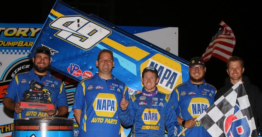 Brad Sweet NAPA AUTO PARTS 49 sprint car team Beaver Dam