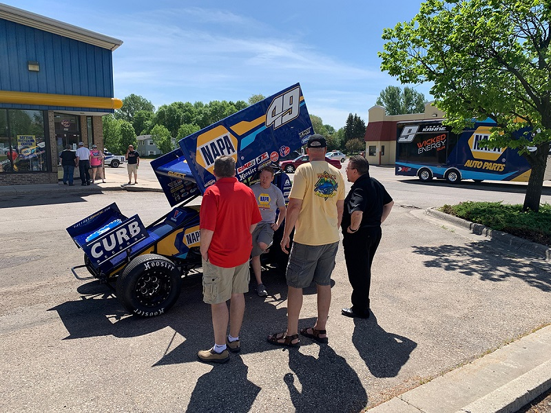 Brad Sweet NAPA AUTO PARTS Grand Forks store event