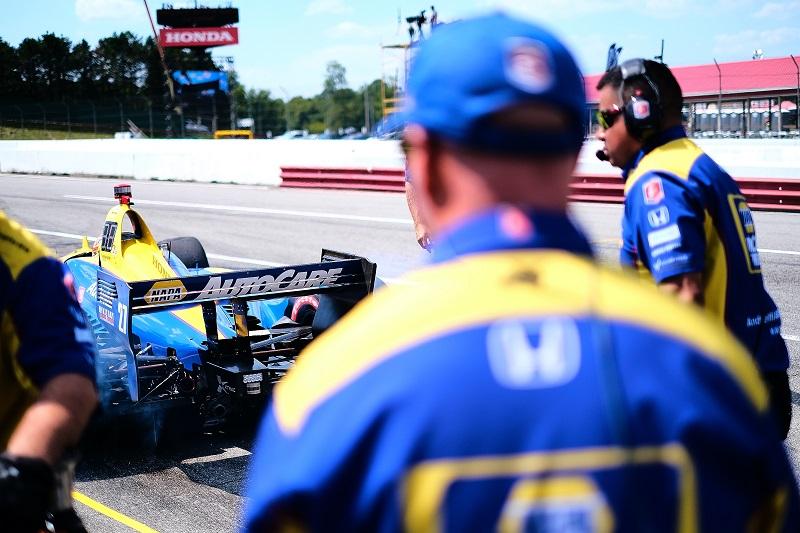 |Photographer: Jamie Sheldrick|Session: qualifying|Event: Honda Indy 200|Circuit: Mid-Ohio Sportscar Course|Location: Lexington, Ohio|Series: NTT IndyCar Series|Season: 2019|Country: US|Car: Dallara DW12 UAK18|Number: 27|Team: Andretti Autosport|Driver: Alexander Rossi|