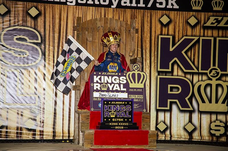 Brad Sweet 49 NAPA AUTO PARTS Outlaws Kings Royal 2019 Eldora win