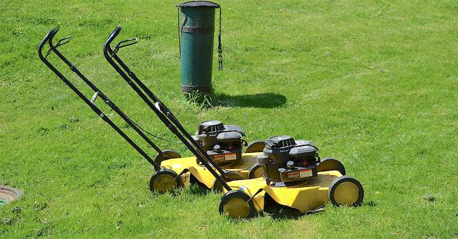 yellow lawn mowers