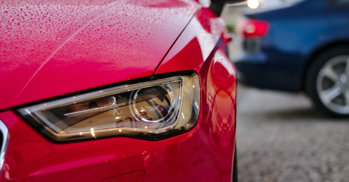 A headlight assembly on a car. Replacing a headlight or a headlight assembly on a car isn't difficult and can keep you, as well as other drivers on the road, safe.