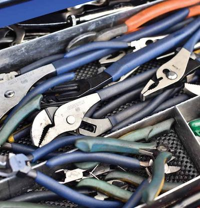 Drawer full of pliers
