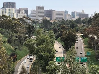 View of downtown San Diego from Balboa Park