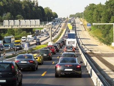 Third Brake Light Cars in Traffic