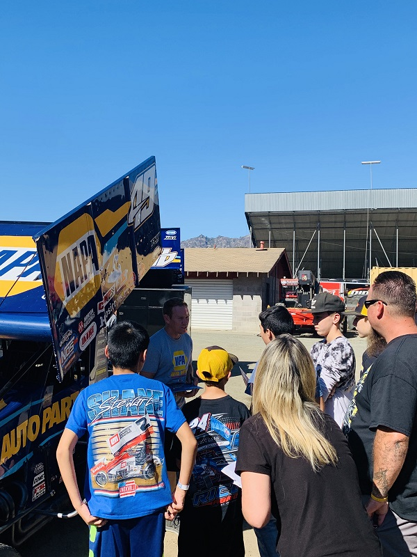 Brad Sweet NAPA AUTO PARTS 29 Outlaws sprint car 2019 Calistoga