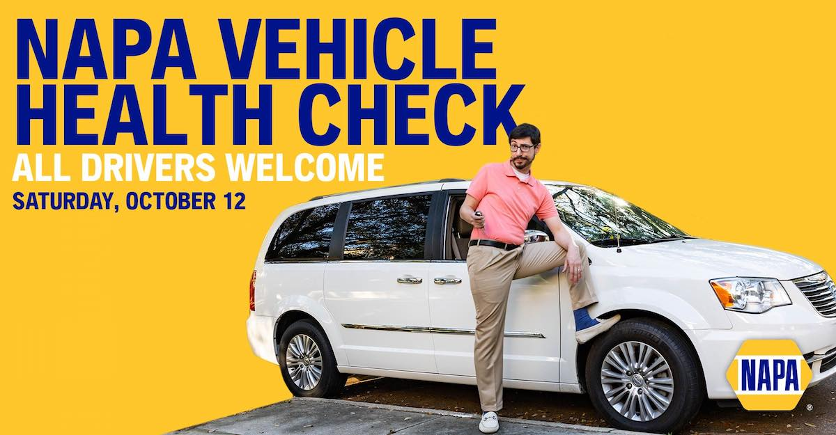 NAPA's Free Vehicle Health Check Is October 12th