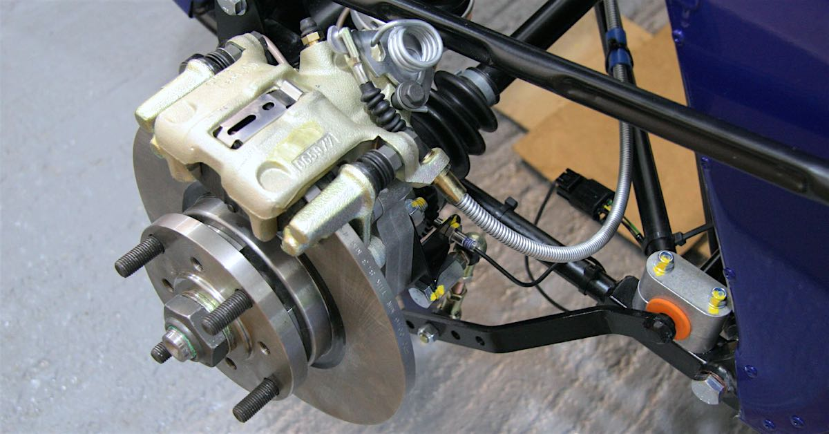 a brake system with ABS sensor attached
