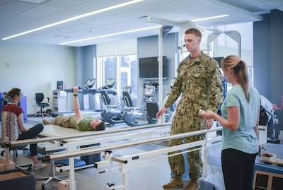 soldier in rehab