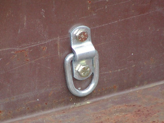 The humble D-ring is one of the most important utility trailer upgrades.