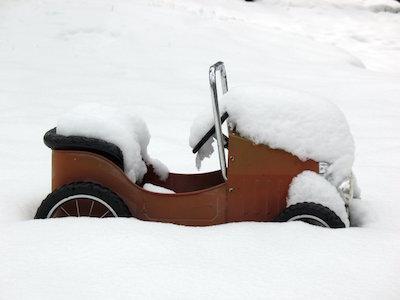 Snowy Pedal Car