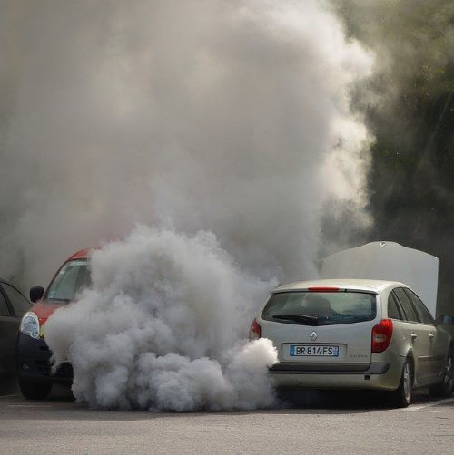 Polluting car