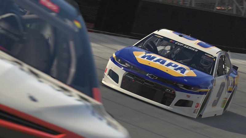 Chase Elliott NAPA AUTO PARTS iRacing eNASCAR Bristol Motor Speedway