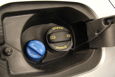 Diesel fuel filler and DEF filler