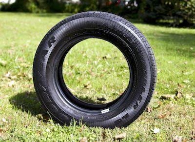 Tire in Field