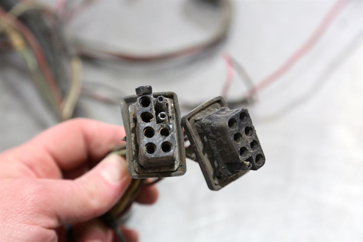Contacts and plugs like this one from a Ford Mustang get corroded and dirty too. This can cause all kinds of drivability issues. A few shots of WD-40 Electrical Contact Cleaner can fix that right up