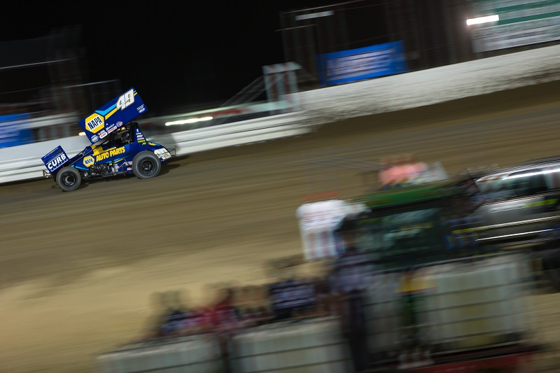 Brad Sweet NAPA AUTO PARTS 49 World of Outlaws win I-55 Speedway win