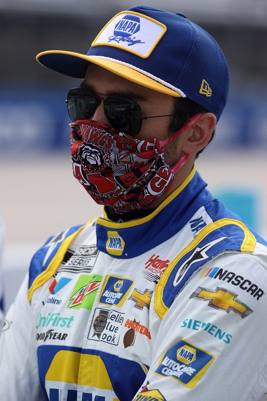 DARLINGTON, SOUTH CAROLINA - MAY 17: Chase Elliott, driver of the #9 NAPA Auto Parts Chevrolet, stands on the grid during the NASCAR Cup Series The Real Heroes 400 at Darlington Raceway on May 17, 2020 in Darlington, South Carolina. (Photo by Chris Graythen/Getty Images)