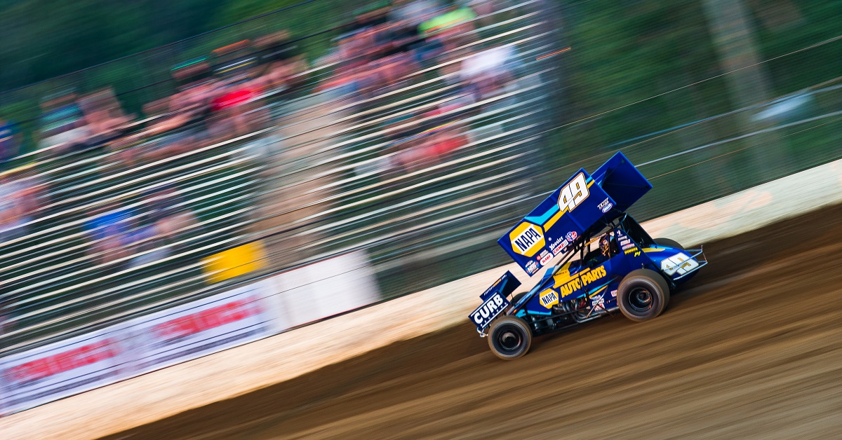 Brad Sweet Lake Ozark Speedway 2020 NAPA AUTO PARTS World of Outlaws