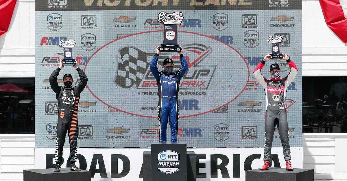 Alexander Rossi Road America 2020 IndyCar 27 podium finish
