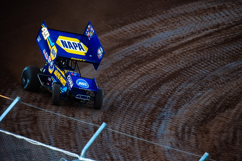 Brad Sweet NAPA AUTO PARTS 49 World of Outlaws Cedar Lake 2020 win