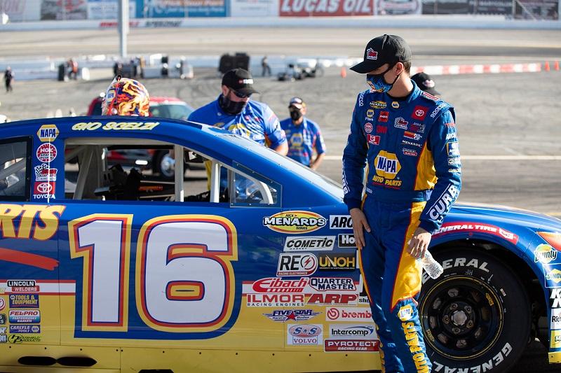 Gio Scelzi 16 NAPA AUTO PARTS BMR NASCAR ARCA West Irwindale 2020