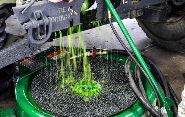 When draining old coolant, save it for recycling.