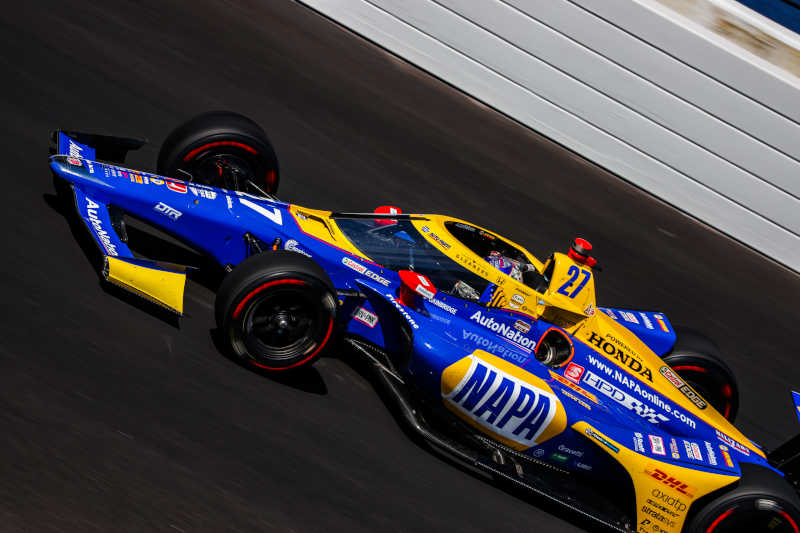 | Driver: Alexander Rossi| Team: Andretti Autosport| Number: 27| Car: Dallara DW12 UAK18| Keyword: Honda|Keyword: NAPA Auto Parts|Keyword: AutoNation|| Photographer: Andy Clary| Event: 104th Running of the Indianapolis 500| Circuit: Indianapolis Motor Speedway| Location: Speedway, Indiana| Series: NTT IndyCar Series| Season: 2020| Country: United States| Keyword: motor racing| Keyword: motorsport|Keyword: open wheel|Keyword: single seater|Keyword: IN|Keyword: USA|Keyword: US|Keyword: Oval|Keyword: USA|Keyword: IMS|Keyword: Indy 500|Keyword: August|| Session: Carb Day|Keyword: Final Practice|
