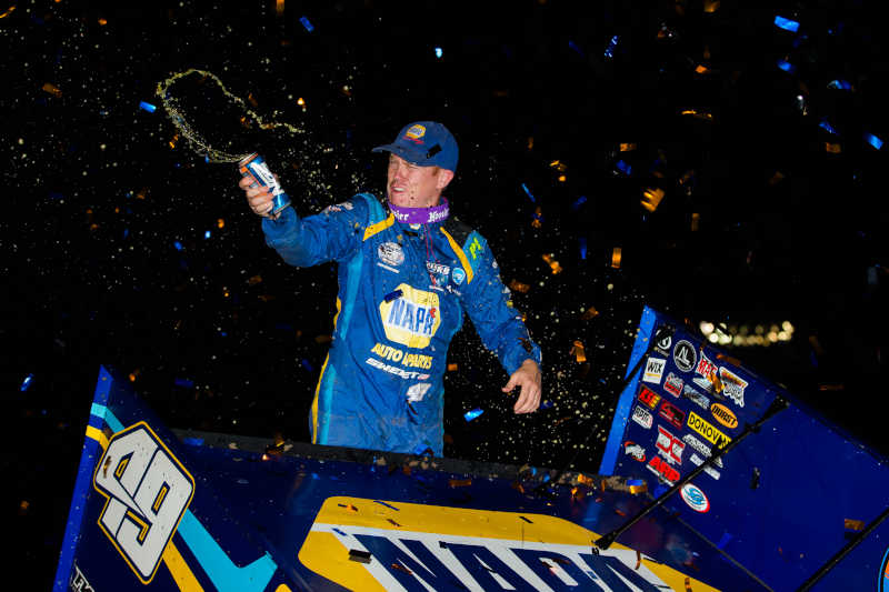 Brad Sweet NAPA AUTO PARTS 49 Outlaws I80 Speedway win