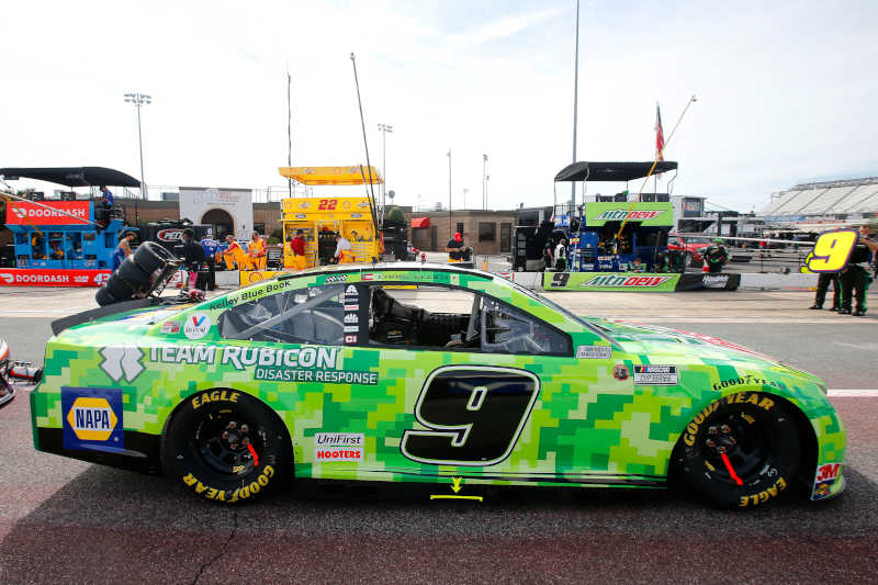 #9: Chase Elliott, Hendrick Motorsports, Chevrolet Camaro Mountain Dew/Team Rubicon