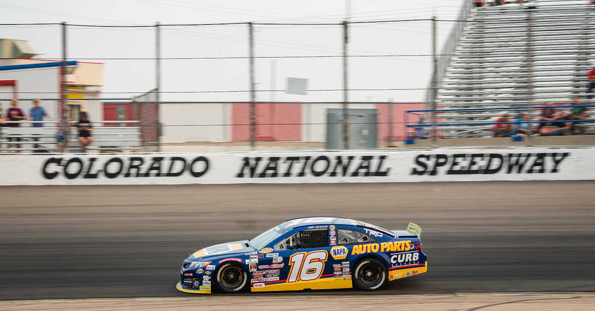 Gio Scelzi (16) during the ENEOS 150 presented by NAPA Auto Parts at Colorado National Speedway in Dacono, Colorado.
