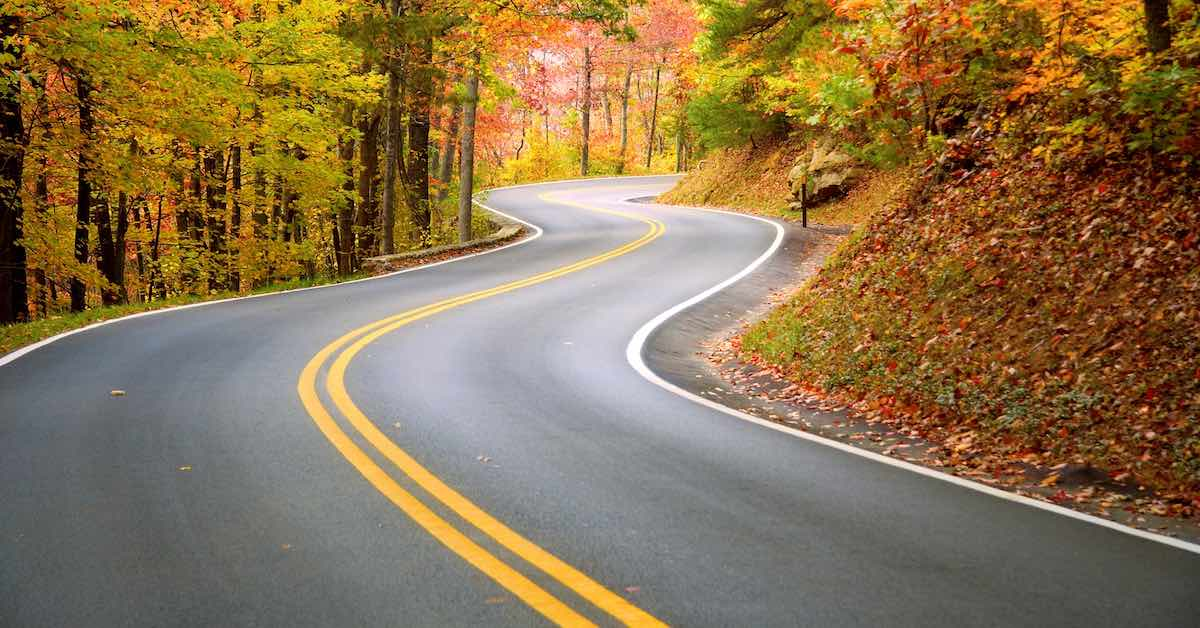 Winding Road Autumn Appalachian Mountains Winding road