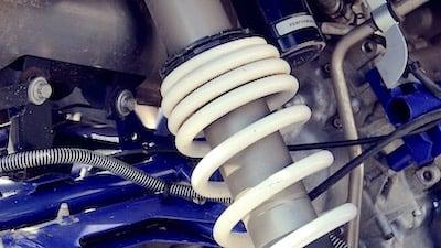 an adjustable-preload coilover shock