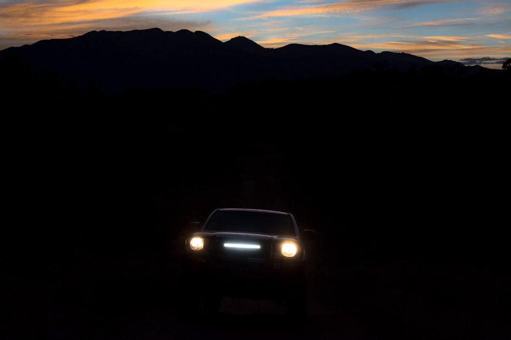 Truck with light bar