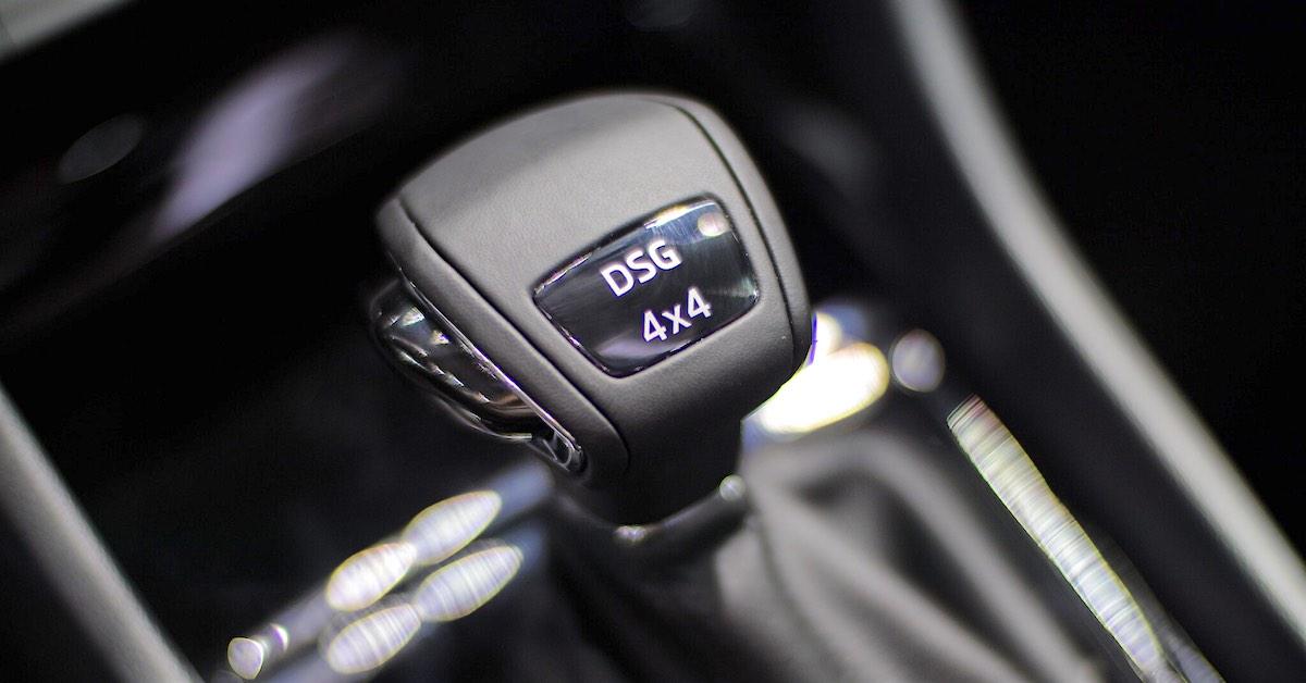 A dual clutch transmission shifter