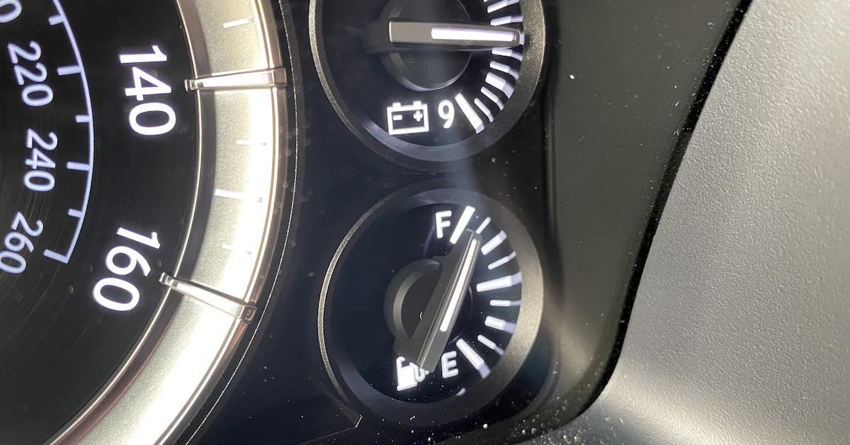 A fuel gauge.