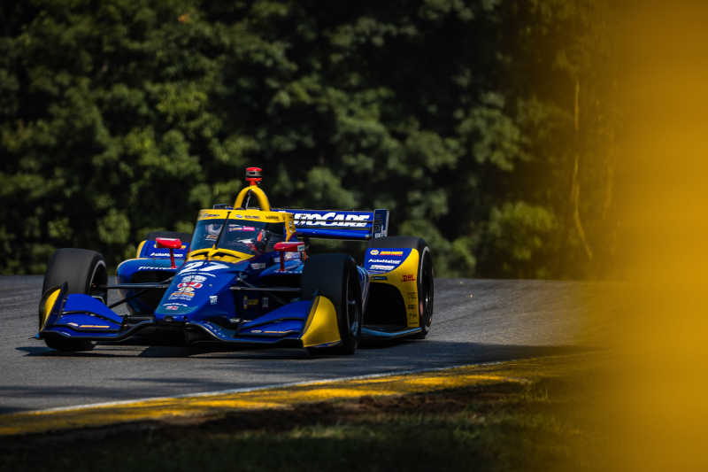 |Photographer: Sean Montgomery|Event: Honda Indy 200 at Mid-Ohio|Circuit: Mid-Ohio Sports Car Course|Location: Lexington, Ohio|Series: NTT IndyCar Series|Country: United States|Session: FP1|Season: 2020|Team: Andretti Autosport|Car: Dallara DW12 UAK18|Car: Honda|Number: 27|Driver: Alexander Rossi|