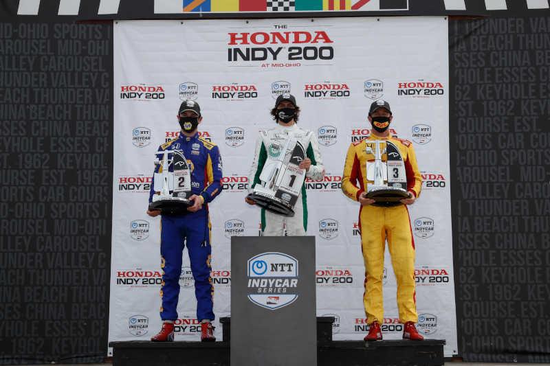 Alexander Rossi Mid-Ohio doubleheader twin podium NAPA AUTO PARTS 27 race 2