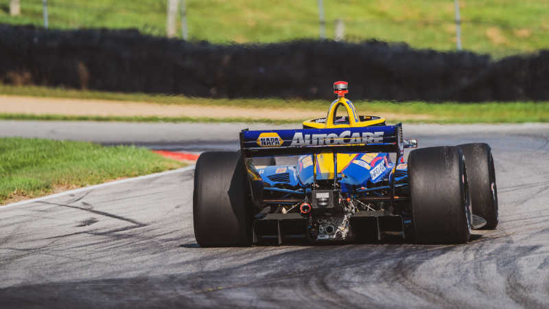 |Photographer: Taylor Robbins|Event: Honda Indy 200 at Mid-Ohio|Circuit: Mid-Ohio Sports Car Course|Location: Lexington, Ohio|Series: NTT IndyCar Series|Country: United States|Session: FP1|Season: 2020|Team: Andretti Autosport|Car: Dallara DW12 UAK18|Car: Honda|Number: 27|Driver: Alexander Rossi|