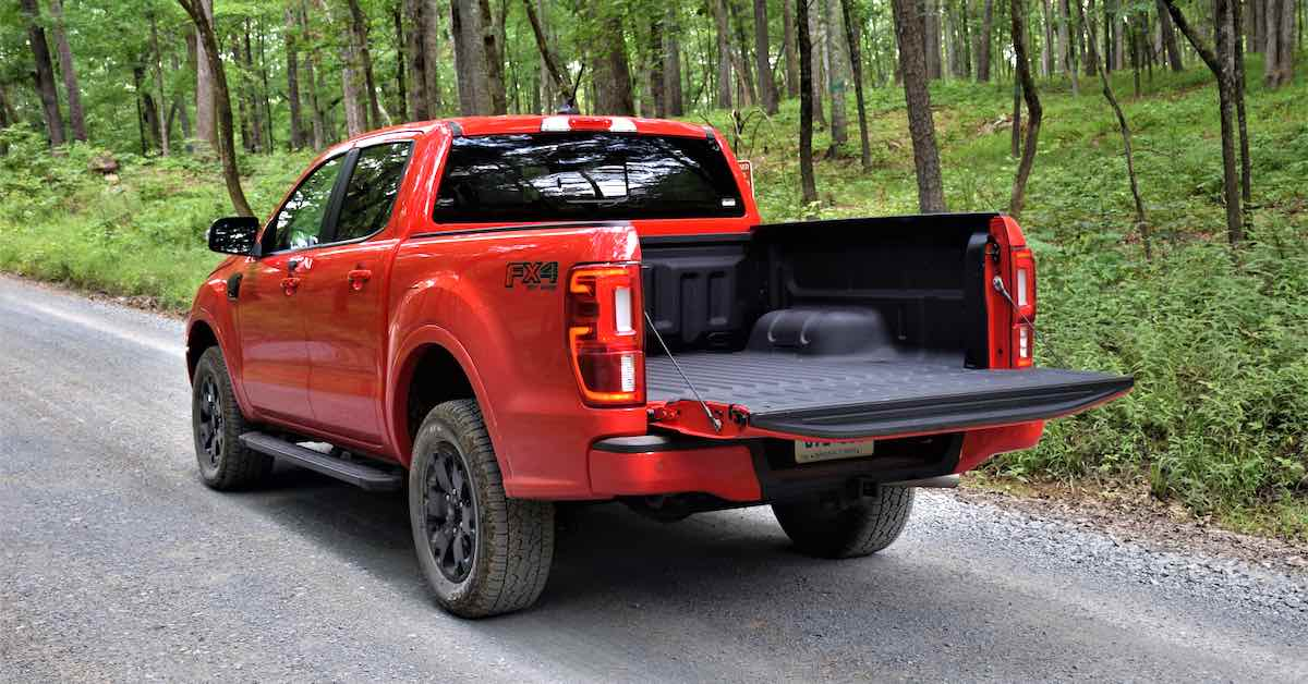 The pickup truck bed for the 2020 Ford Ranger