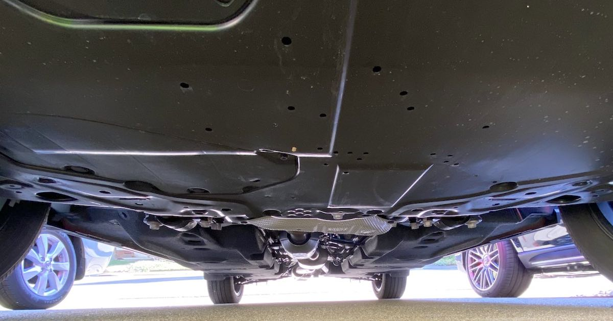 A car's undercarriage